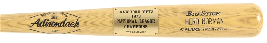 1973 Herb Norman New York Mets Adirondack NL Champions Commemorative Bat (MEARS LOA)