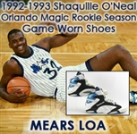 1992-93 Shaquille ONeal Orlando Magic Reebok Pump Sneakers (MEARS LOA) Rookie Season