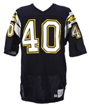 1987 Gary Anderson San Diego Chargers Game Worn Home Jersey (MEARS LOA)