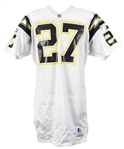 1997 Michael Swift San Diego Chargers Game Worn Road Jersey (MEARS LOA)