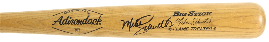1973-79 Mike Schmidt Philadelphia Phillies Signed Adirondack Professional Model Game Used Bat (MEARS A7/JSA)