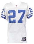 1997 Mark Carrier Detroit Lions Game Worn Road Jersey (MEARS LOA)