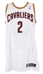 2011-12 Kyrie Irving Cleveland Cavaliers Game Worn Home Jersey (MEARS LOA) Rookie Season