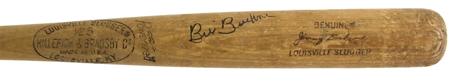 1973-75 Bill Buckner Signed Jimmy Buckner Minor Leagues H&B Louisville Slugger Professional Model Game Used Bat (MEARS LOA/JSA)