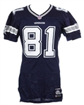 "2001 Raghib ""Rocket"" Ismail Dallas Cowboys Game Worn Road Jersey (MEARS LOA/Team COA)"