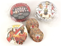 "1990s Michael Jordan Chicago Bulls Pinback Collection - Lot of 32 w/ 6"" 1990-91 NBA Champions, 6"" Michael Jordan MVP & More"
