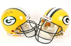 1997-2013 Green Bay Packers Helmets - Lot of 2 w/ Super Bowl XXXI Issued & Datone Jones Signed (MEARS LOA)