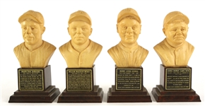 "1963 Babe Ruth Lou Gehrig Joe DiMaggio Bill Dickey New York Yankees 6.5"" Hall of Fame Busts - Lot of 4"