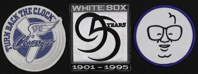 1994-1998 Chicago White Sox Cubs Patch Collection (3)