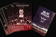 1986-1987 Michael Jordan Chicago Bulls Pocket Schedule (Lot of 11)