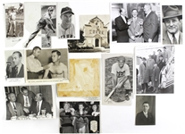1937-58 Baseball Original Photograph Collection - Lot of 13 w/ Harry Craft, Mickey Witek Coast Guard, Jocko Conlan, Leo Durocher, Rogers Hornsby & More