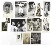 1914-51 Baseball Original Photograph Collection - Lot of 12 w/ Jess Haines, Muddy Ruel, Happy Chandler, Tommy Leach & More
