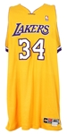 2002-04 Shaquille ONeal Los Angeles Lakers Home Jersey (MEARS LOA)