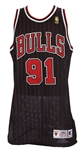 1996-97 Dennis Rodman Chicago Bulls Signed Alternate Jersey (MEARS LOA/*Full JSA Letter*)