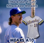 1986 Robin Yount Milwaukee Brewers Signed Game Worn Road Jersey (MEARS A10/JSA)