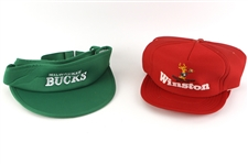 1980s Milwaukee Bucks Visors & Snapback Winston Caps - Lot of 4