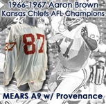 1967-68 Aaron Brown Kansas City Chiefs Game Worn Road Jersey w/ Uniform Pants & Padded Pants (MEARS A9)