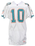 1992 Pete Stoyanovich Miami Dolphins Signed Game Worn Road Jersey (MEARS LOA/JSA)