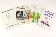 1963-68 College Basketball Programs & Media Guides - Lot of 4 w/ Michigan State & Illinois