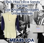 1960-1966 circa Sandy Koufax Los Angeles Dodgers Undersleeves Shirt (MEARS LOA)
