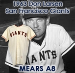 1963 Don Larsen San Francisco Giants Game Worn Home Jersey (MEARS A8)