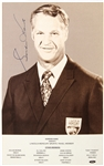 "1960s Gordie Howe Detroit Red Wings Signed Lincoln Mercury Sports 5"" x 8"" Promo Photo (JSA)"