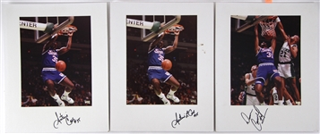 1980s/90s Sacramento Kings Vogue Photographer Studio Professional 11x14 Photo Lot (3 signed) (JSA)