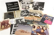 1970s-80s Muhammad Ali & Family Photograph & Newspaper Clipping Collection - Lot of 200+