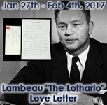1965 (Mar 22) Curly Lambeau Green Bay Packers Correspondence to Girlfriend on Personal Letterhead w/ Original Envelope (MEARS LOA)