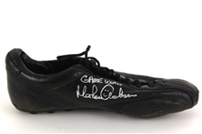 1991 Morten Andersen New Orleans Saints Signed Game Worn Strength Cleat (MEARS LOA/Radke Sports)