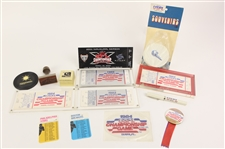 1983-85 USFL Memorabilia Collection - Lot of 14 w/ Championship Game Tickets, Patch, Pinback Button & More
