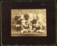 "1893 Lawrence Light Weight Football Team 2.5"" x 3.5"" Cabinet Photo on Mount"