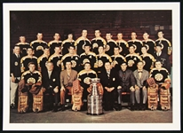 "1969-1970 Boston Bruins Stanley Cup Champions 5""x7"" Full Color Glossy Paper Team Photo"