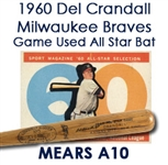 1960 Del Crandall Milwaukee Braves Game Used Autographed All Star Game Bat (JSA/MEARS LOA)