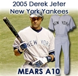 "2005 Derek Jeter New York Yankees Game Worn Road Uniform (MEARS A10) ""Sourced Directly From the Oakland A's Organization"""