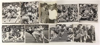 1940s-80s Football Original Photo Collection - Lot of 9 w/ Walter Payton, Archie Griffin, Alonzo Stagg, Chicago Cardinals & More