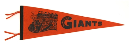 "1940s New York Giants Polo Grounds 26"" Full Size Pennant"