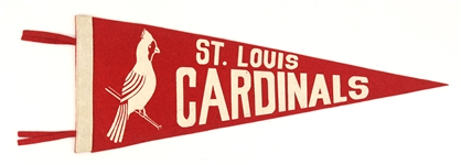 "1940s St. Louis Cardinals 23"" Full Size Pennant"