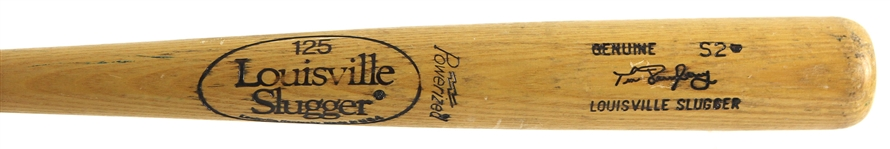 1980-82 Tim Derryberry Minor Leagues Louisville Slugger Professional Model Game Used Bat (MEARS LOA)