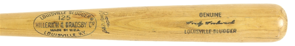 1968 Woody Woodward Cincinnati Reds H&B Louisville Slugger Professional Model Game Used Bat (MEARS LOA)