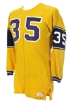 1950s Gold Durene #35 Game Worn Wilson Football Jersey (MEARS LOA)