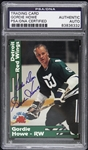 1991 Gordie Howe Detroit Red Wings Signed FBHC All Time Greats Card (PSA/DNA Slabbed)