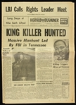 1968 (April 5) Martin Luther King Jr. Civil Rights Leader Assassination Los Angeles Herald Examiner Newspaper