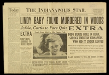 1932 (May 13) Murder of Lindbergh Baby Indianapolis Star Newspaper