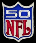 "1969 Original NFL 50th Anniversary 3.x5"" x 4.5"" Jersey Patch"