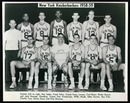"1958-59 New York Knickerbockers 8"" x 10"" Reprint Team Photo"