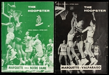 1955-57 Marquette Warriors Notre Dame Fighting Irish Valparaiso Crusagers Hoopster Basketball Programs - Lot of 2