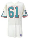 1982-86 Ray Foster Miami Dolphins Game Worn Road Jersey (MEARS LOA)