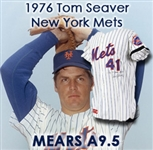 1976 Tom Seaver New York Mets Game Worn Home Jersey W/ Black Memorial Arm Band For Club owner Joan Payson and former manager Casey Stengel (MEARS A9.5)(JSA)