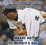 "2002 Roger Clemens New York Yankees Game Worn Home Jersey (MEARS A8) ""Provenance from PC Richard & Sons Electronic Company"""
